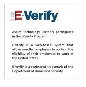 Aspire Technology Partners participates in the E-Verify Program